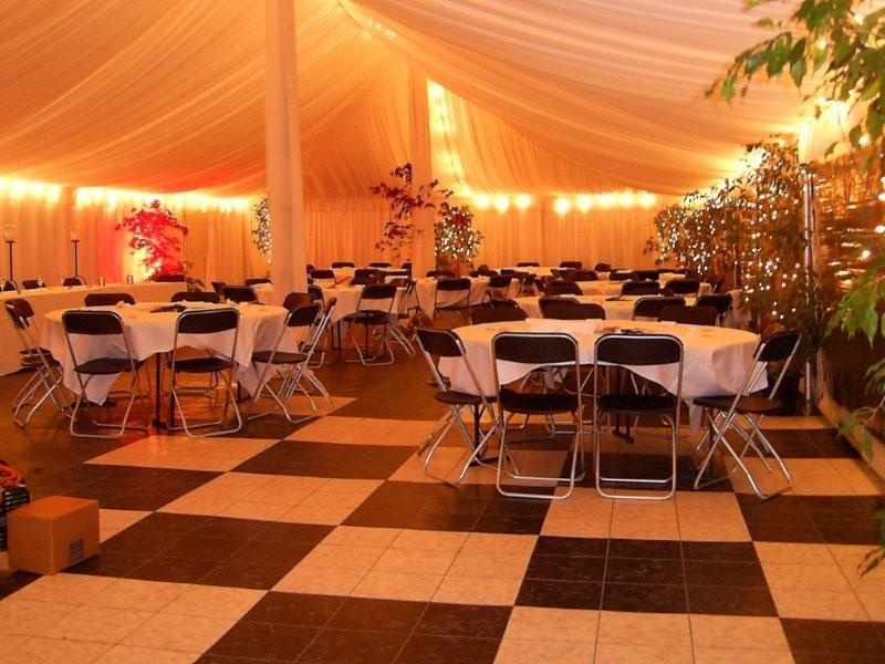 12x18 Electron Marquee With Fairy Lighting And Silks