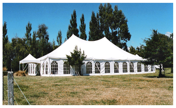 12m Electron Marquee with French Window Walls